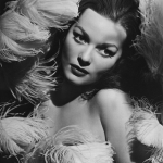 Hazel Brooks swathed in ostrich feathers
