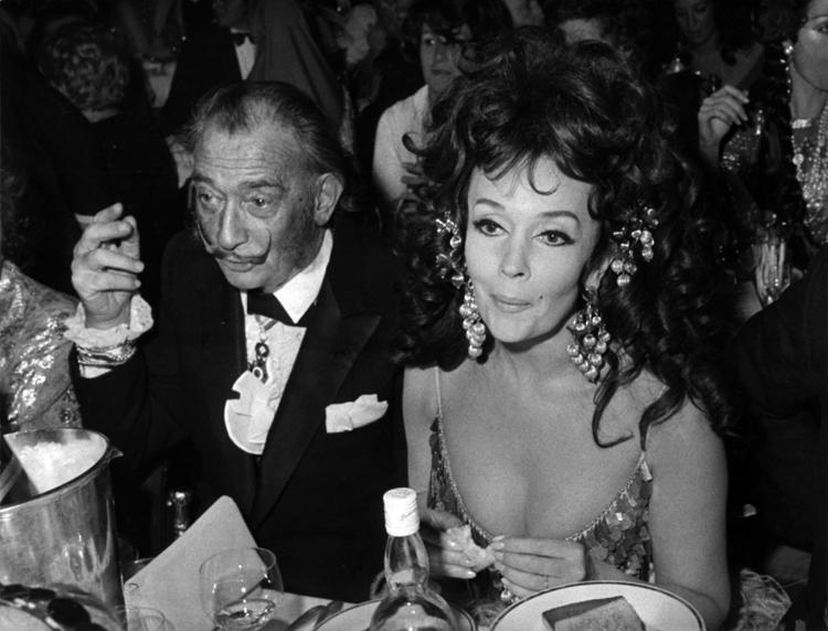 Ludmilla Tchérina with Salvador Dali
