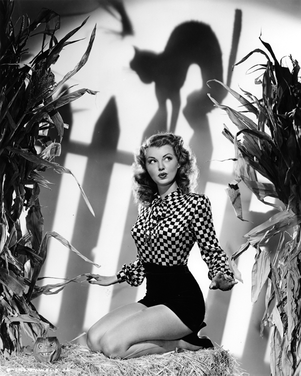 Lillian Wells as a witch