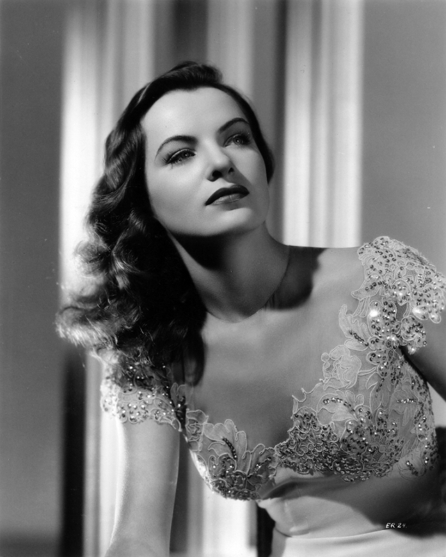 Ella Raines in an eye-popping evening gown
