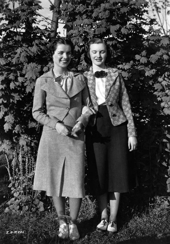 Ella Raines with Shirley Brenden