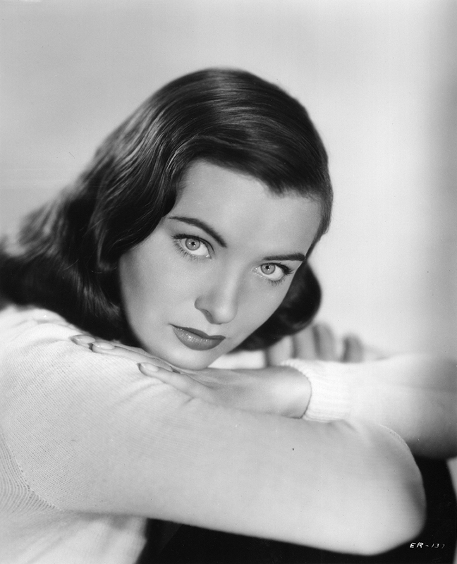 Ella Raines in a wool sweater