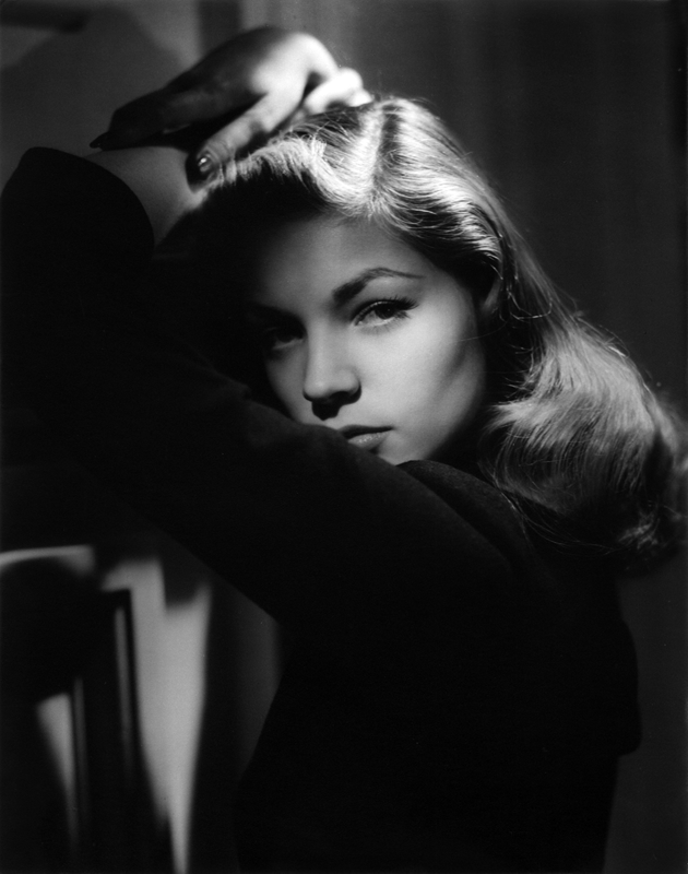 Lauren Bacall poses for John Engstead