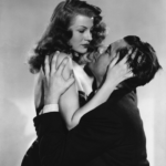 Rita Hayworth and Glenn Ford in a passionate embrace