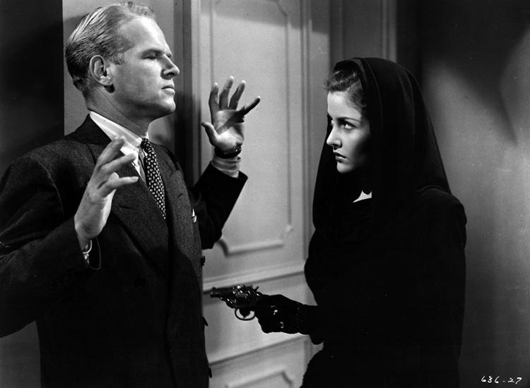 Martha Vickers and Louis Jean Heydt in The Big Sleep