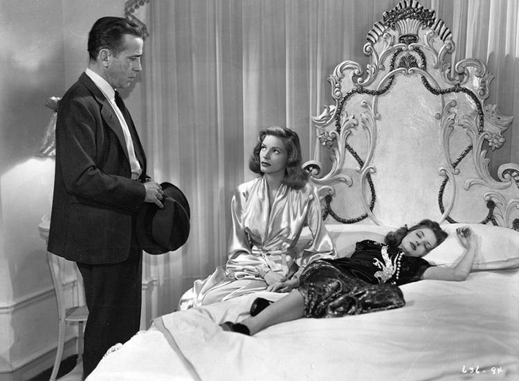 Humphrey Bogart, Lauren Bacall and Martha Vickers in The Big Sleep
