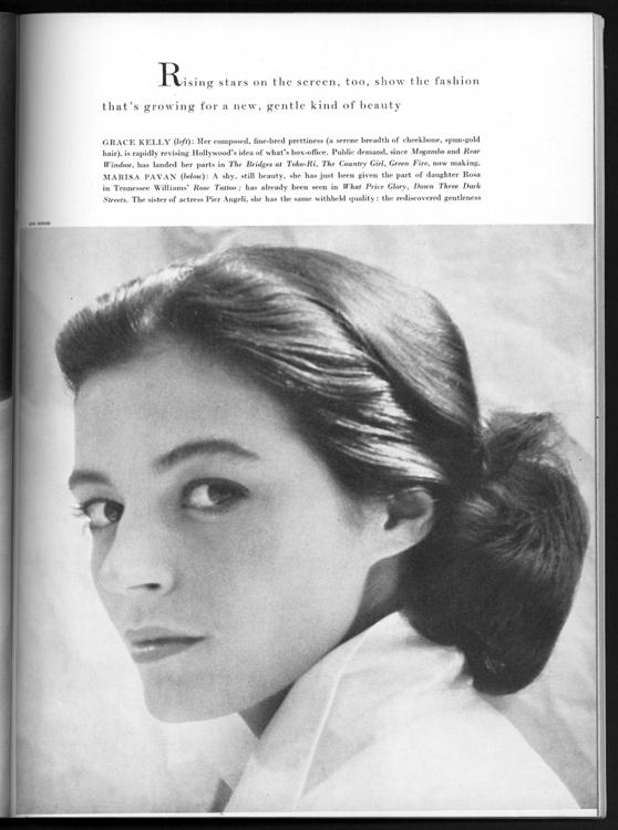Photo research: Marisa Pavan in Vogue, January 1955.
