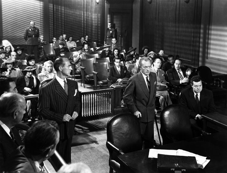 The courtroom scene in The Lady from Shanghai