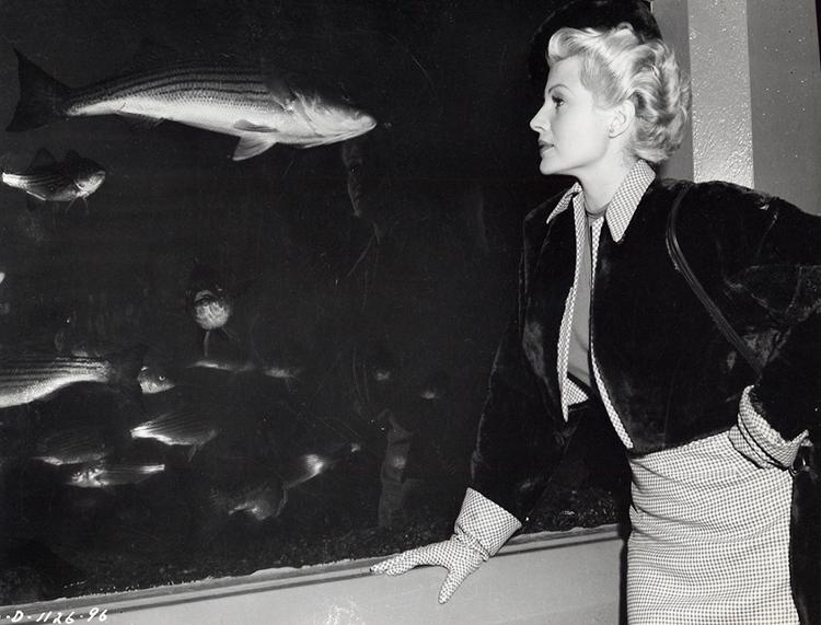 Elsa Bannister at the San Francisco aquarium