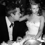 Orson Welles and Rita Hayworth at loggerheads