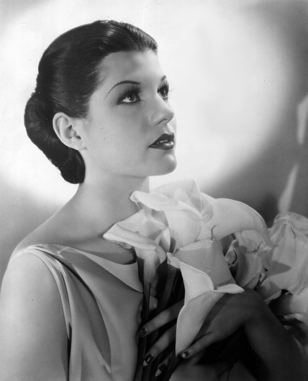 Publicity photo of Rita Cansino before she had her hairline raised and her name changed to Hayworth