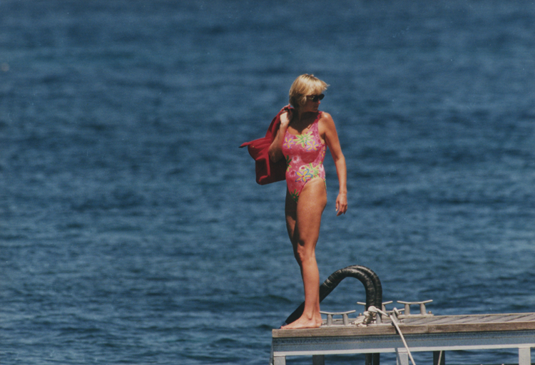 Princess Diana on board the luxury yacht, Jonikal