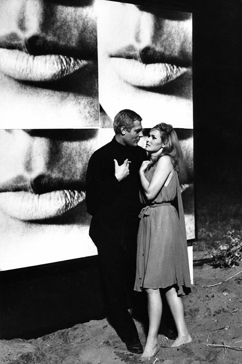 Marcello Mastroianni and Ursula Andress in a scene from The 10th Victim