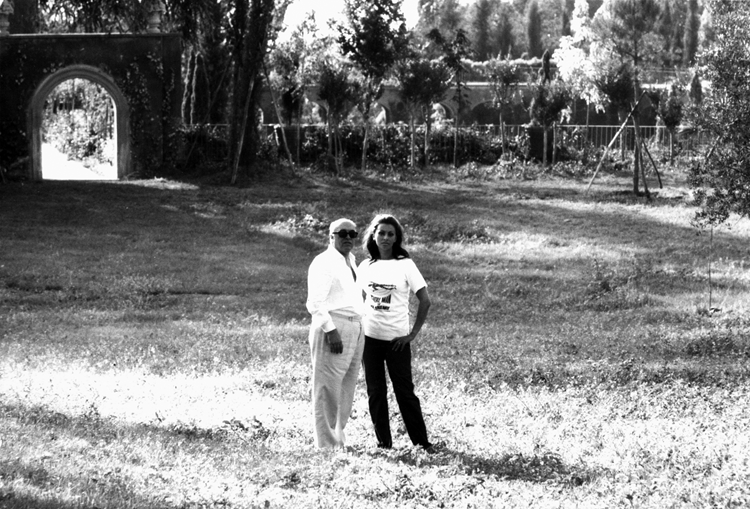 Sophia Loren and Carlo Ponti outdoors