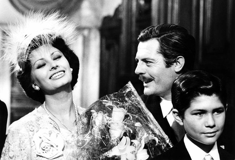Sophia Loren and Marcello Mastroianni in Marriage Italian-Style