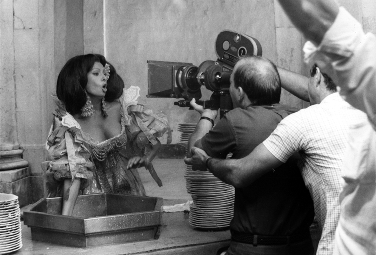 Sophia Loren filming More Than a Miracle