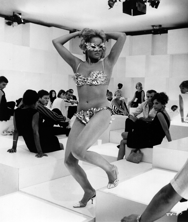 Ursula Andress in a scene from The 10th Victim