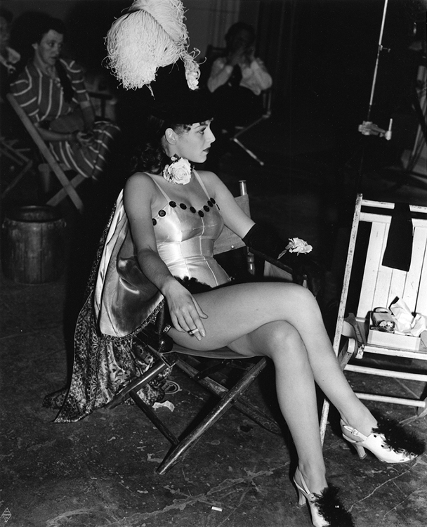 Vera Zorina on the set of On Your Toes