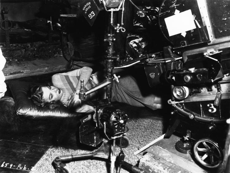 Ann Sheridan filming Nora Prentiss