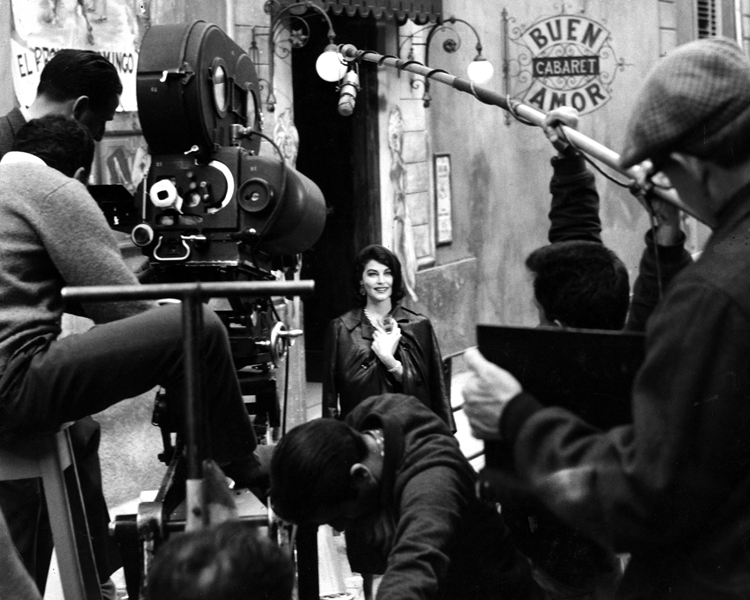 Ava Gardner filming The Angel Wore Red