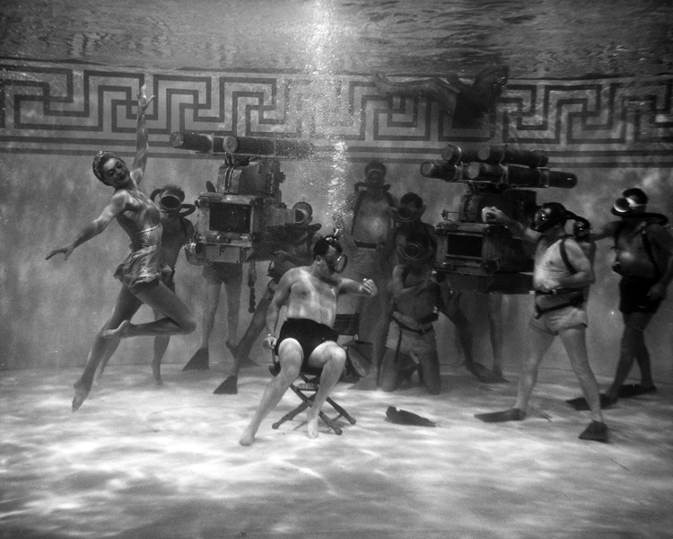 Esther Williams filming Jupiter's Darling