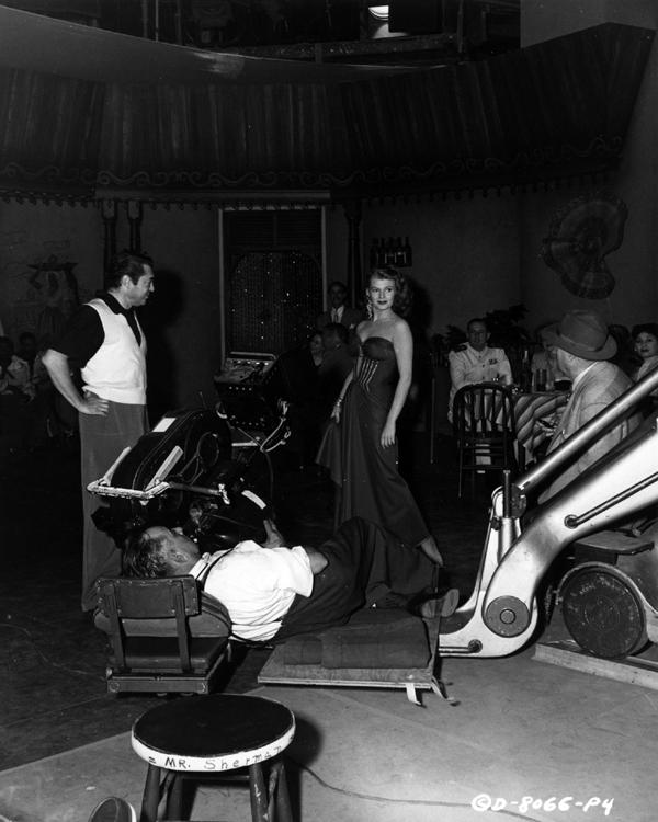 Rita Hayworth filming Affair in Trinidad