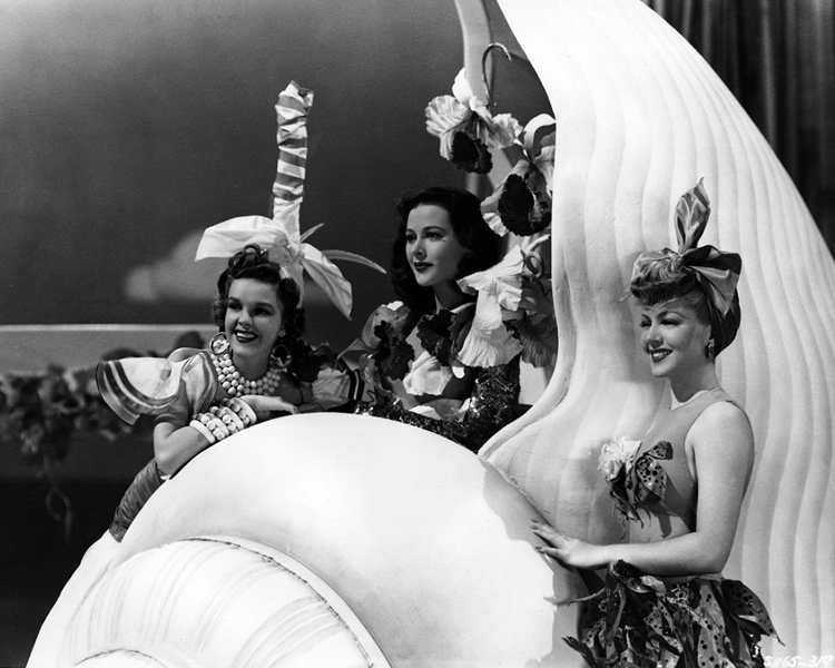 Hedy Lamarr alongside Judy Garland and Lana Turner in Ziegfeld Girl
