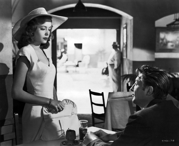 Robert Mitchum's first encounter with Jane Greer in Out of the Past