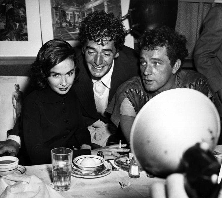 Jean Simmons, Victor Mature and Richard Burton