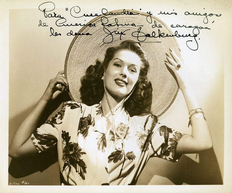 Jinx Falkenburg photo inscribed to Cinelandia