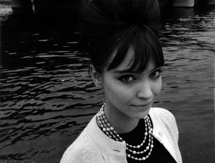 Anna Karina by the Seine