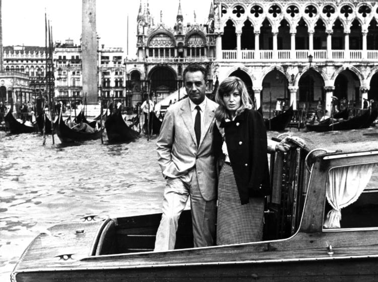 Michelangelo Antonioni and Monica Vitti in Venice