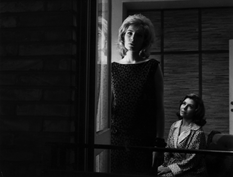 Monica Vitti and Rossana Rory in L'eclisse