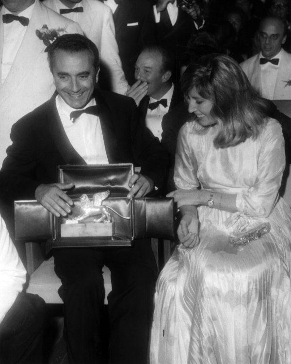 Monica Vitti with Michelangelo Antonioni at the 1964 Venice International Film Festival