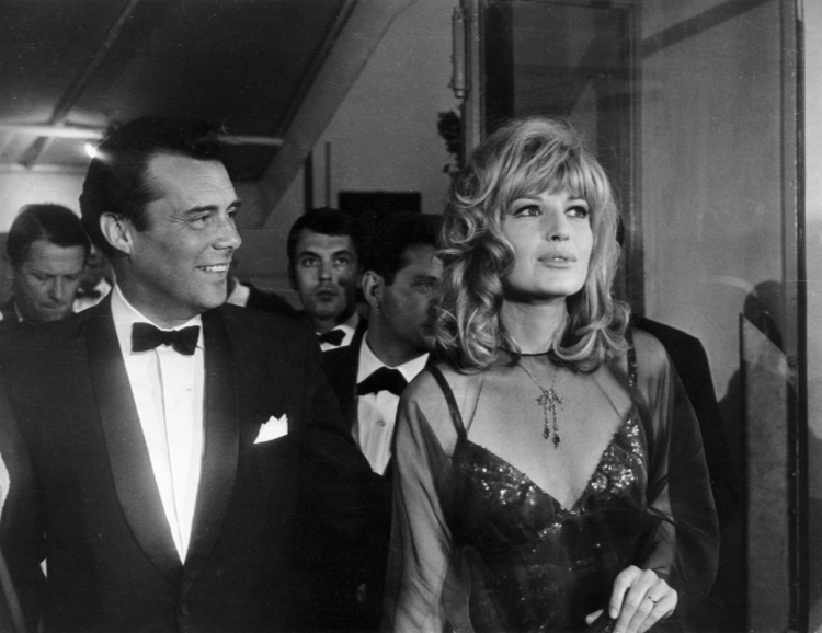 Monica Vitti with Dirk Bogarde