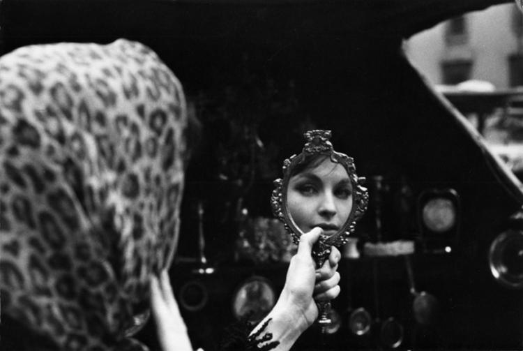 Yvonne Furneaux checks her make-up
