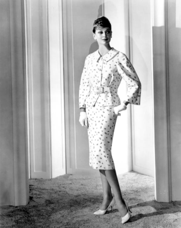 Diamond-print suit by Irene Lentz