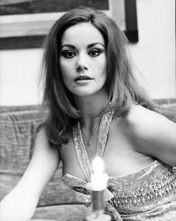Claudine Auger by candlelight